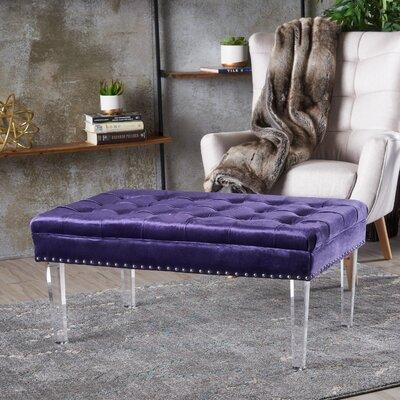 Rowlett New Velvet Ottoman Upholstery: Plumb