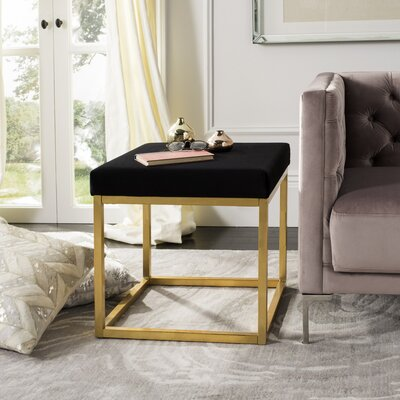 Havilland Square Ottoman Upholstery: Black