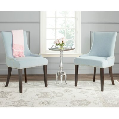 Carraway Upholstered Dining Chair Upholstery Color: Fabric Sky Blue