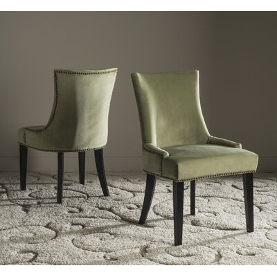 Carraway Upholstered Dining Chair Upholstery Color: Velvet Mint