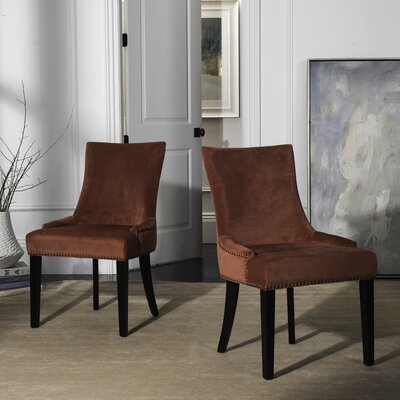 Carraway Upholstered Dining Chair Upholstery Color: Velvet Rust