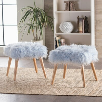 Belfield Ottoman Upholstery: Light Blue