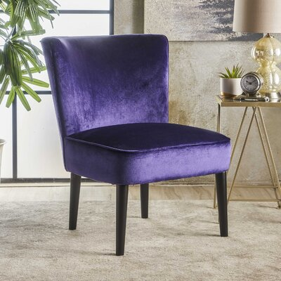 Dagnall Side Chair Upholstery: Plum