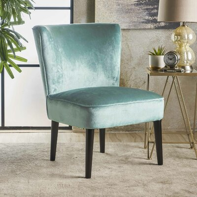 Dagnall Side Chair Upholstery: Turquoise