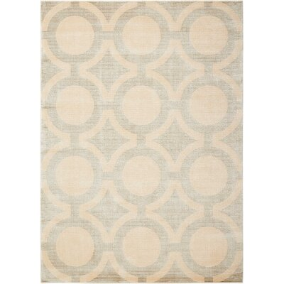 Chaudeville Cream Gray Rug Rug Size: Rectangle 53 x 75