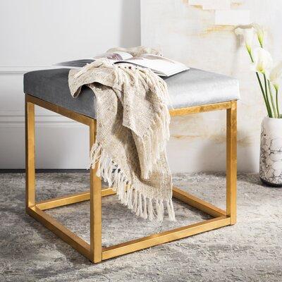 Havilland Square Ottoman Upholstery: Gray
