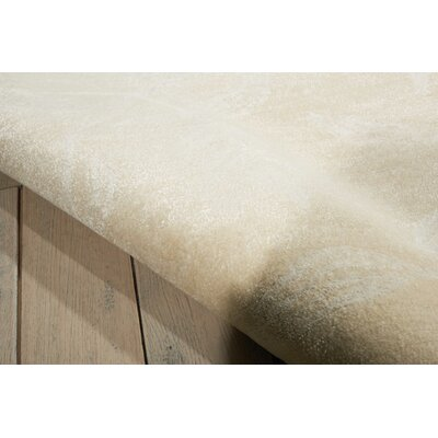 Preminger Hand-Knotted Ivory Area Rug Rug Size: Rectangle 79 x 99