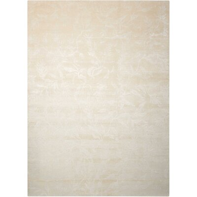Preminger Hand-Knotted Ivory Area Rug Rug Size: Rectangle 8'6