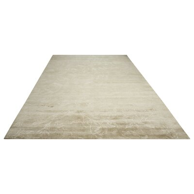 Preminger Hand-Knotted Gray Area Rug Rug Size: Rectangle 99 x 139