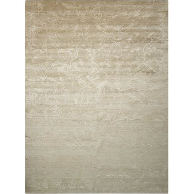 Preminger Hand-Knotted Gray Area Rug Rug Size: Rectangle 86 x 116