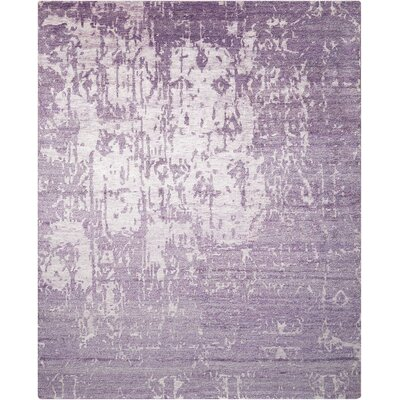 Preminger Hand-Knotted Amethyst Area Rug Rug Size: Rectangle 79 x 99