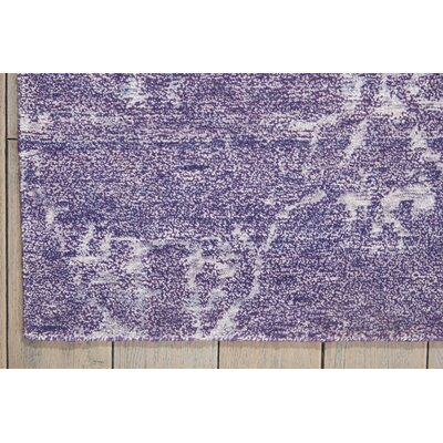 Preminger Hand-Knotted Amethyst Area Rug Rug Size: Rectangle 86 x 116