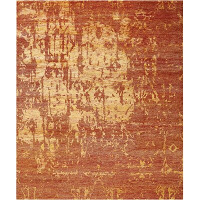Preminger Hand-Knotted Flame Area Rug Rug Size: Rectangle 79 x 99