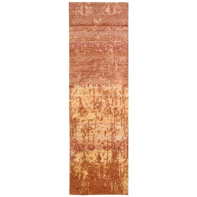 Preminger Hand-Knotted Flame Area Rug Rug Size: Runner 23 x 8