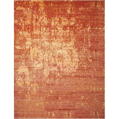 Preminger Hand-Knotted Flame Area Rug Rug Size: Rectangle 86 x 116