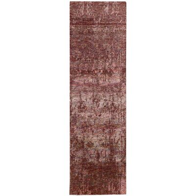 Preminger Hand-Knotted Wine Area Rug Rug Size: Runner 23 x 8
