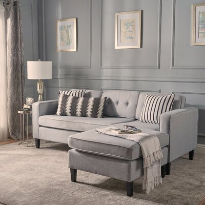 Chiltern Modular Sectional Upholstery: Light Gray