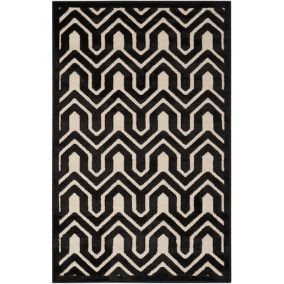 Beaconsfield Ivory/Black Area Rug Rug Size: Rectangle 26 x 4
