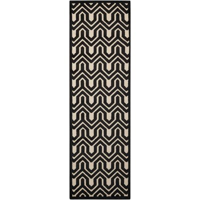 Beaconsfield Ivory/Black Area Rug Rug Size: Runner 22 x 7