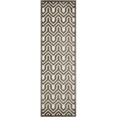 Beaconsfield Charcoal/Ivory Area Rug Rug Size: Runner 22 x 7