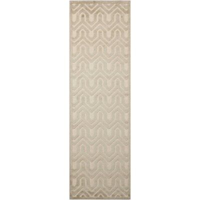 Beaconsfield Ivory/Light Gray Area Rug Rug Size: Runner 22 x 7