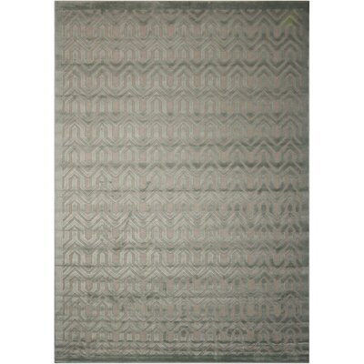 Beaconsfield Silver/Green Area Rug Rug Size: Rectangle 79 x 1010
