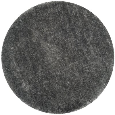 Jayne Hand Tufted Gray Area Rug Rug Size: Round 8
