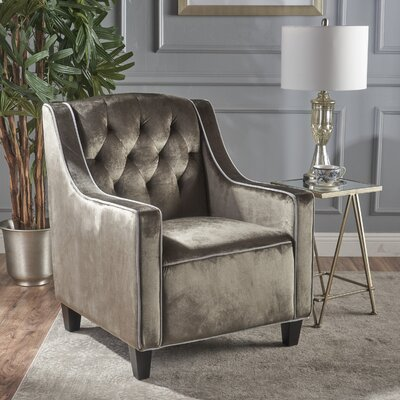 Pell Club Chair Upholstery : Gray