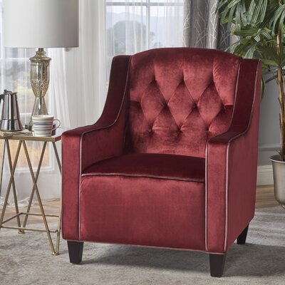 Pell Club Chair Upholstery : Garnet