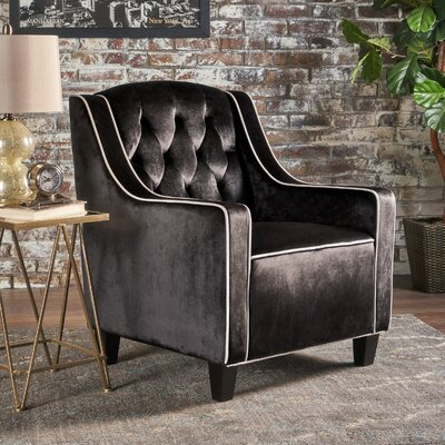 Pell Club Chair Upholstery : Black
