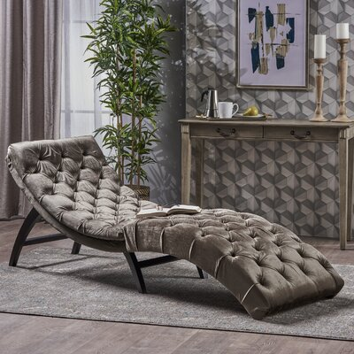 Saoirse Chaise Lounge Upholstery: Gray