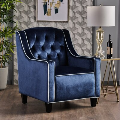 Pell Club Chair Upholstery : Cobalt