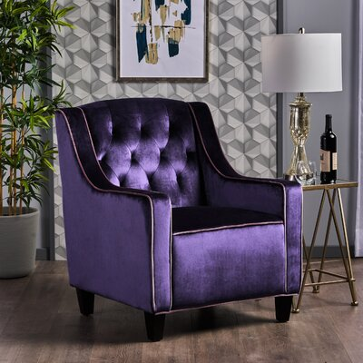Pell Club Chair Upholstery : Plum