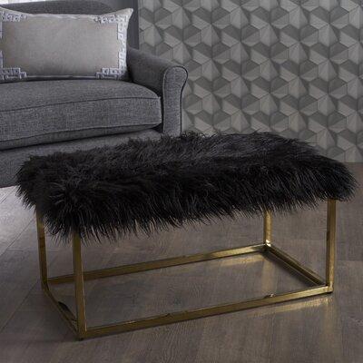 Rojas Ottoman Upholstery: Black