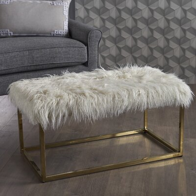 Rojas Ottoman Upholstery: White