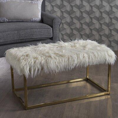Rojas Ottoman Upholstery: White