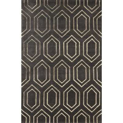 Graceland Hand-Tufted Brown/Ivory Area Rug Rug Size: Rectangle 6 x 9