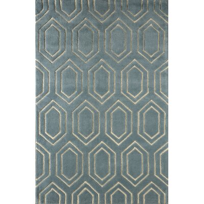 Graceland Hand-Tufted Blue/Ivory Area Rug Rug Size: Rectangle 4 x 6