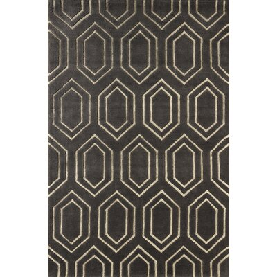 Graceland Hand-Tufted Gray/Ivory Area Rug Rug Size: Rectangle 5 x 8
