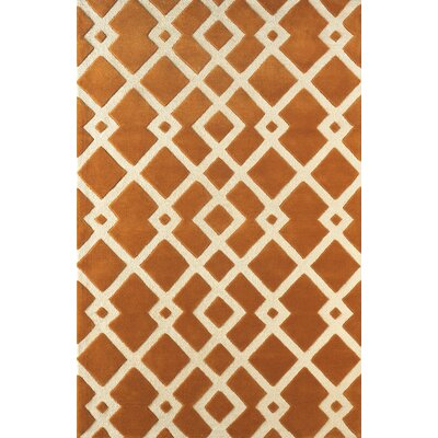 Glenside Hand-Tufted Gold/Ivory Area Rug Rug Size: Rectangle 8 x 10