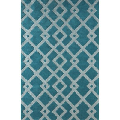 Glenside Hand-Tufted Blue Area Rug Rug Size: Rectangle 5 x 8