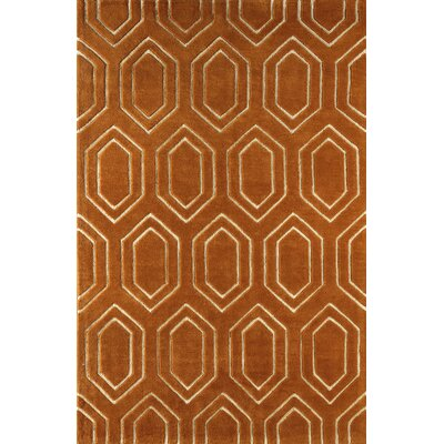 Graceland Hand-Tufted Sorrel/Ivory Area Rug Rug Size: Rectangle 5 x 8