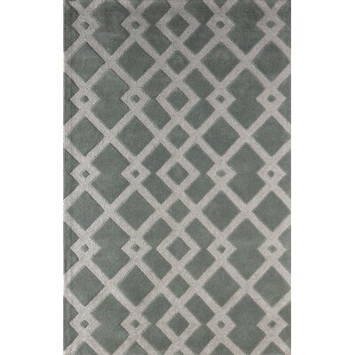 Glenside Hand-Tufted Slate Area Rug Rug Size: Rectangle 4 x 6