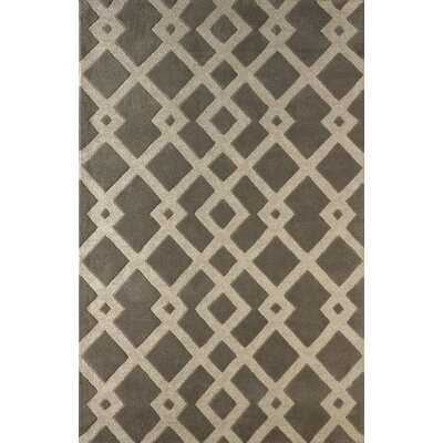 Glenside Hand-Tufted Soot/Brown Area Rug Rug Size: Rectangle 5 x 8