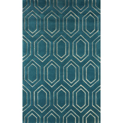 Graceland Hand Tufted Lapis Area Rug Rug Size: Rectangle 6 x 9