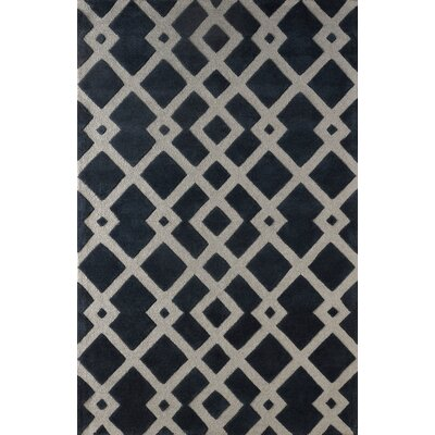 Glenside Hand Tufted Midnight Navy Area Rug Rug Size: Rectangle 4 x 6