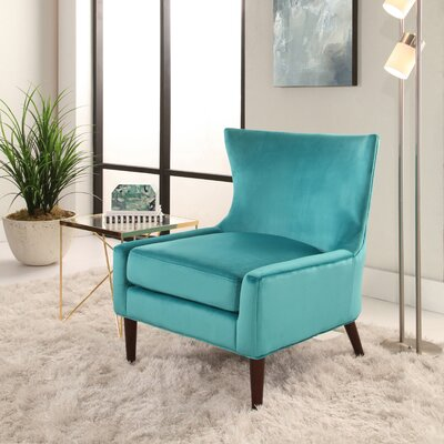 Caledonian Wingback Chair Upholstery: Turquoise