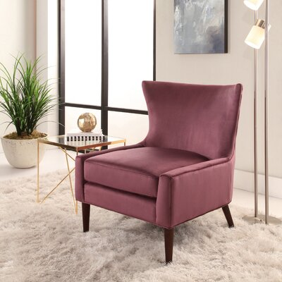 Caledonian Wingback Chair Upholstery: Purple