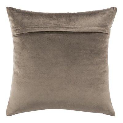 Wyona Throw Pillow Color: Potato Brown/Copper, Size: 20 H x 20 W