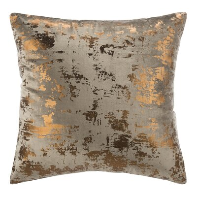 Wyona Throw Pillow Color: Potato Brown/Copper, Size: 20 H x 20 W